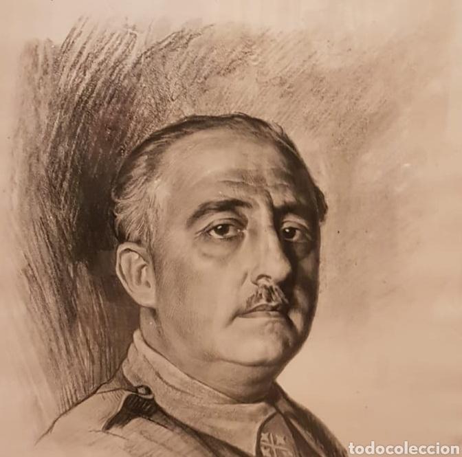 Arte: Retrato de Francisco Franco a Lápiz Realizado por Ismael Blat - Benimamet Valencia 1901-1976 - Foto 2 - 144272725