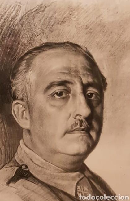 Arte: Retrato de Francisco Franco a Lápiz Realizado por Ismael Blat - Benimamet Valencia 1901-1976 - Foto 3 - 144272725