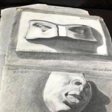 Arte: LOTE 6 BOCETOS + UN RETRATO DEL PINTOR JOSE CATALÁ 1950. !VED LAS 7 PIEZAS EN FOTOS!. Lote 144293186