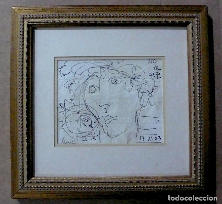 DIBUJO TINTA SOBRE PAPEL FIRMADO Y FECHADOI (Arte - Dibujos - Contemporáneos siglo XX)