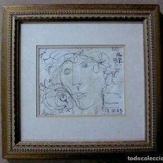 Arte: DIBUJO TINTA SOBRE PAPEL FIRMADO Y FECHADOI. Lote 144491334