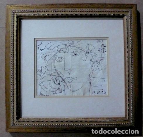 Arte: DIBUJO TINTA SOBRE PAPEL FIRMADO Y FECHADOI - Foto 2 - 144491334