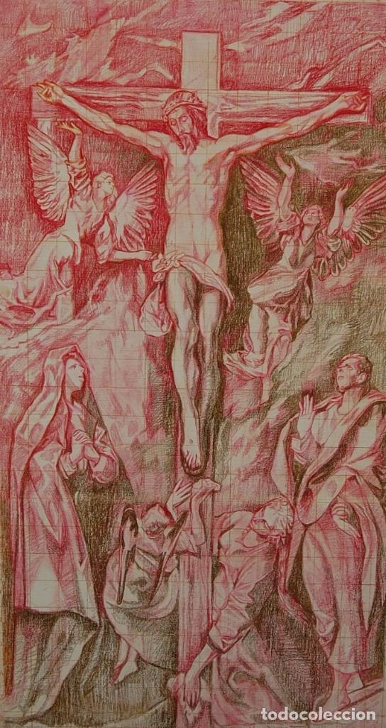 Arte: Copia original del famoso cuadro del Greco: La Crucifixión - ¡ Mejor Ver ! - Foto 3 - 144498430