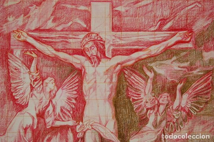 Arte: Copia original del famoso cuadro del Greco: La Crucifixión - ¡ Mejor Ver ! - Foto 4 - 144498430