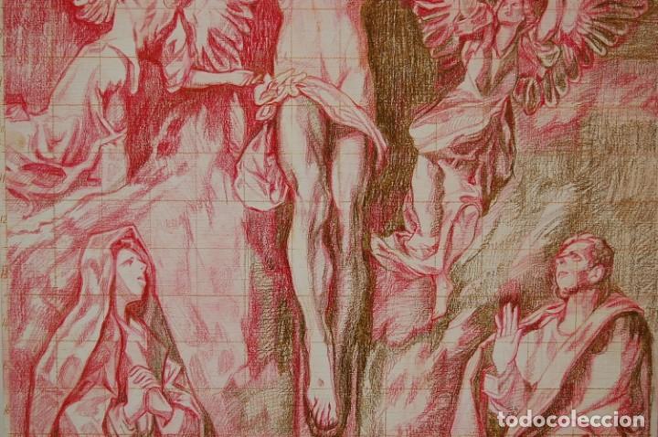 Arte: Copia original del famoso cuadro del Greco: La Crucifixión - ¡ Mejor Ver ! - Foto 5 - 144498430