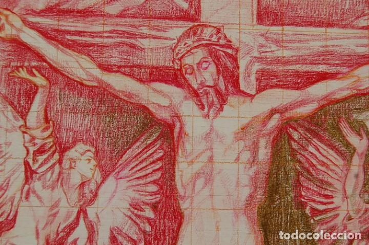 Arte: Copia original del famoso cuadro del Greco: La Crucifixión - ¡ Mejor Ver ! - Foto 8 - 144498430