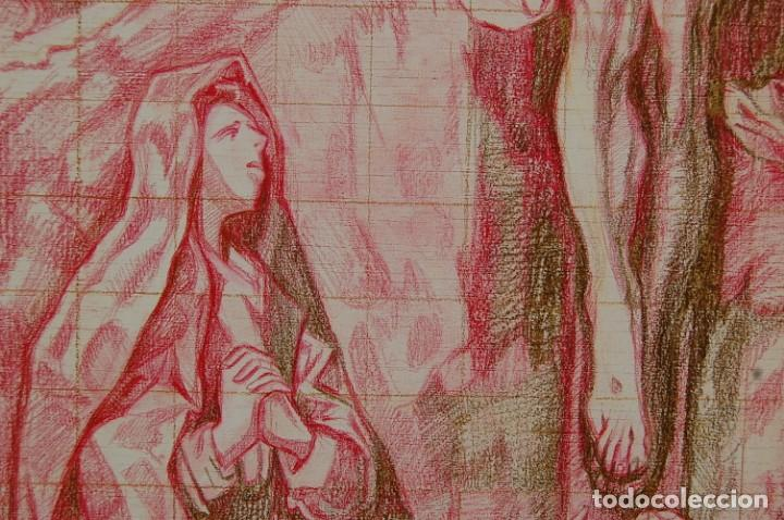 Arte: Copia original del famoso cuadro del Greco: La Crucifixión - ¡ Mejor Ver ! - Foto 10 - 144498430