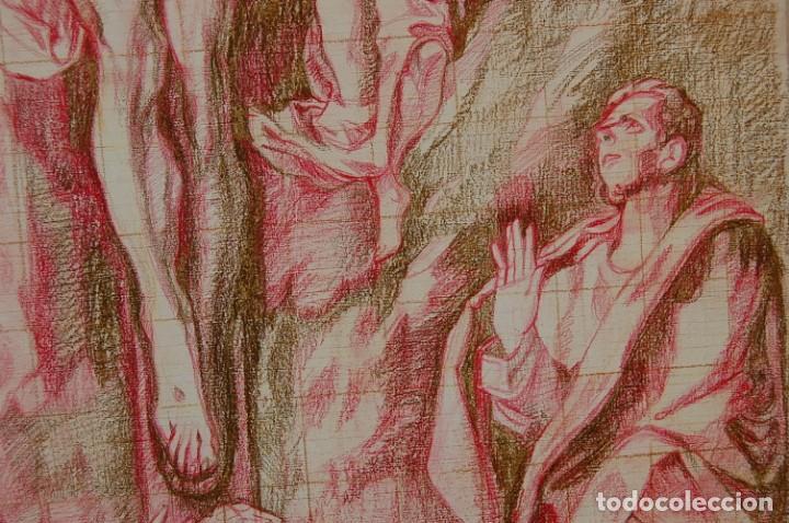 Arte: Copia original del famoso cuadro del Greco: La Crucifixión - ¡ Mejor Ver ! - Foto 11 - 144498430