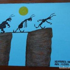 Arte: DIBUJO/COLLAGE ORIGINAL, 33 X 25 APROX. Lote 144629198