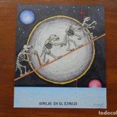 Arte: DIBUJO/COLLAGE ORIGINAL, 30 X 26 APROX. Lote 144630058
