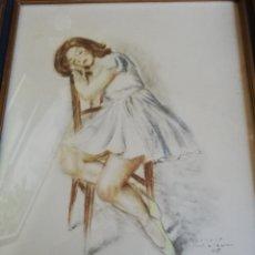 Arte: DIBUJO A COLOR AÑO 1945 DEL PINTOR GISBERT SOLER. Lote 144858573