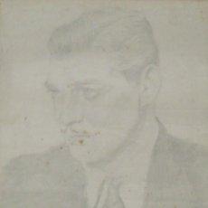 Arte: FRANCISCO DELGADO. DIBUJO A LÁPIZ. CLARK GABLE. FIRMADO A MANO. FECHADO 9-7-1940.. Lote 145066970
