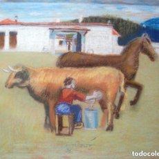 Arte: JORDI CUROS TÉC.MIXTA/PAPEL 65 X 50 CM. FIRMADO. AÑOS 60.. Lote 145074562