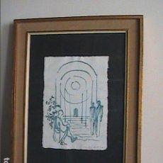 Arte: DIBUJO A TINTA. 2006. MANUEL CUSACHS. POEMARIO LOS INMORTALES. POETA CARLES DUARTE BASADO EN OVIDIO.. Lote 145357586