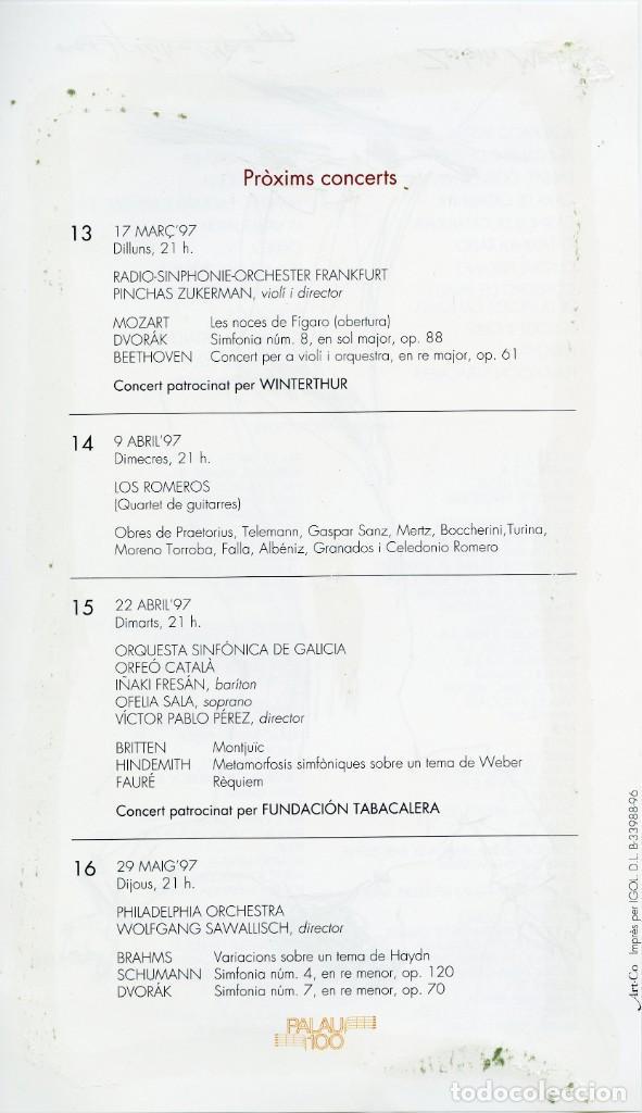 Arte: 2 dibujos del director de orquesta Zubin Mehta por Ramon Aguilar Moré, 1997 - Foto 3 - 145367910
