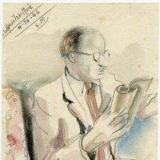 Arte: 2 RETRATOS DE LA ESPOSA Y EL SUEGRO DE DIONISIO RIDRUEJO POR RAMON AGUILAR MORE, 1945 Y 1946. Lote 145368530