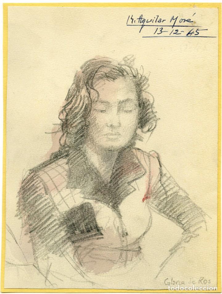Arte: 2 retratos de la esposa y el suegro de Dionisio Ridruejo por Ramon Aguilar More, 1945 y 1946 - Foto 2 - 145368530