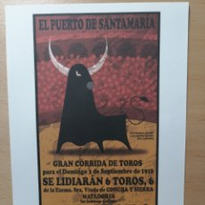 Arte: NACHO DE DIEGO: GRABADO DE ARTE POP LATINO. CARTEL TAURINO PUERTO SANTAMARIA. . Lote 145378098