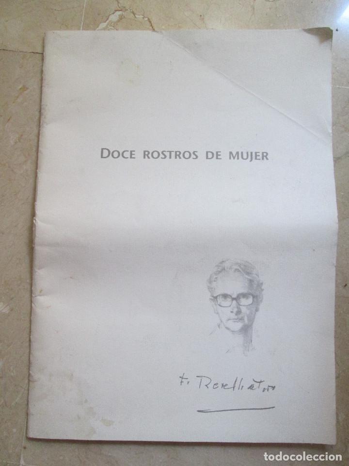 REVELLO DE TORO - DOCE ROSTROS DE MUJER - 12 LAMINAS CON CARPETILLA - 40X29 (Arte - Dibujos - Contemporáneos siglo XX)
