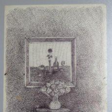 Arte: CURIOSO BODEGON. BOLIGRAFO S/ PAPEL. Lote 145401566