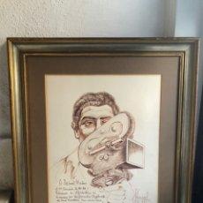 Arte: PINTOR JOSE PEREZ GIL-DIBUJO ORIGINAL EXCLUSIVO EN CARTULINA ENMARCADO.AÑO 1990.. Lote 145713374