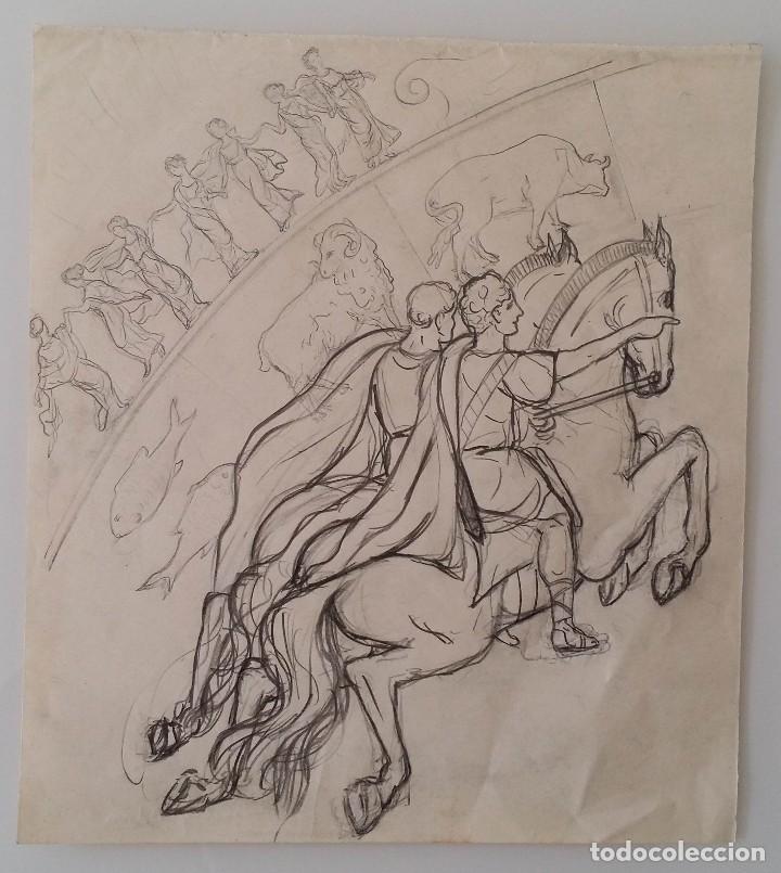 DIBUJO DEL SIGLO XIX (Arte - Dibujos - Modernos siglo XIX)