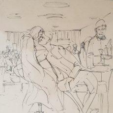Arte: INTERESANTE DIBUJO PLUMILLA, FIRMADO (ILEGIBLE).. Lote 145875488