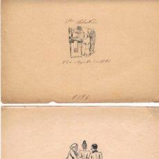 Arte: CONJUNTO DE NUEVE DIBUJOS A TINTA DE NINOTAIRES CATALANES FINALES S.XIX Y PPOS. S.XX. Lote 146044738