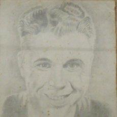 Arte: FRANCISCO DELGADO. DIBUJO A LÁPIZ. ACTOR DE HOLLYWOOD. 1940. FIRMADO Y FECHADO A MANO.. Lote 146106298