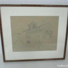 Arte: DIBUJO BERGA Y BOADA (OLOT 1872- SANT FELIU DE GUIXOLS 1923) - SAN MARTÍ (VILALLONGA) - AGOST 1900. Lote 146257890