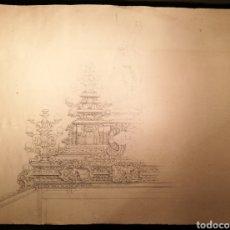 Arte: BOCETO PARA PASO DE SEMANA SANTA. ANDALUCÍA CIRCA 1900. Lote 146377089