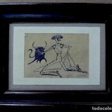 Arte: CARICATURA DE TORERO FIRMADA MILLAN. Lote 146382802