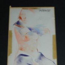 Arte: (M) DIBUJO TECNICA MIXTA ORIGINAL DE VIVES FIERRO 85 , MUJER , SEÑALES DE USO. Lote 146419074