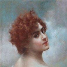 Arte: RETRATO DE DAMA - RAIMUNDO DE MADRAZO Y GARRETA (1841 - 1920) - PASTEL.. Lote 146638706
