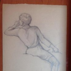 Arte: PABLO URANGA. ESTUDIÓ DE FIGURA.. Lote 146709606