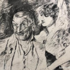 Arte: DIBUJO TINTA A PLUMILLA FIRMADO LLOVERA I BOFILL ( REUS 1846 - 1896 ).. Lote 146743038