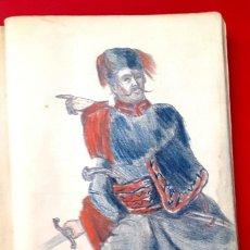 Arte: ÁLBUM DE DIBUJOS - 1872 - 44 DIBUJOS - LAPÍZ - TINTA. Lote 146775134