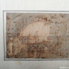 Arte: CAPRICCIO ITALIANO ATRIBUIDO A MARCO RICCI. S.XVIII. Lote 147039385