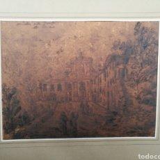 Arte: DIBUJO DE UNA ABADÍA ATRIBUIDO A PIRANESI. Lote 147040826