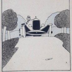 Arte: ERNESTO SCOTTI (1901-1957) TINTA ORIGINAL OBRA PUBLICADA EN CARAS Y CARETAS - 1928. Lote 147298062