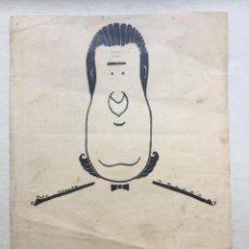 Arte: JOSÉ SEBASTIÁN TALLÓN (1904-1954) RETRATO DE ADOLFO DE FERRARI - TINTA ORIGINAL. Lote 147298498