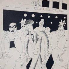Arte: ENRIQUE RIVERON (1902-1998) TINTA. OBRA PUBLICADA EN CARAS Y CARETAS -. Lote 147299898