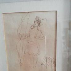 Arte: DIBUJO ORIGINAL DE ANDRÉ LHOTE ENMARCADO CON CERTIFICADO DE AUTENTICIDAD FIRMADO POR SIMONE LHOTE.. Lote 147311050