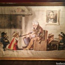 Arte: ESPAÑA COMIENDO LA SOPA POR JOSEP LLOVERA (1846-96). Lote 147372694