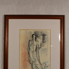 Arte: DESNUDO DE MUJER DIBUJO ORIGINAL FIRMADO. Lote 161071520