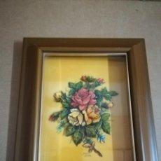 Arte: CUADRO DE ELENA OLIVERA EN RELIEVE Y ESMALTADO AÑOS 70. Lote 147456110