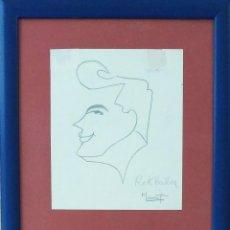 Arte: ROCK HUDSON, DIBUJO A LÁPIZ DE MARCET, AÑO 1950. Lote 147661342