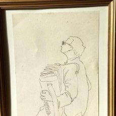 Arte: DIBUJO CON ESCENA COSTUMBRISTA DEL DIBUJANTE Y PINTOR MANUEL CARNICER FAJÓ (MATARÓ 1921-BCN 1998). Lote 147661450