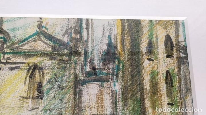 Arte: CATEDRAL. DIBUJO. MIXTA SOBRE PAPEL. JOAN ABELLO PRAT. SIGLO XX. ESPAÑA(?) - Foto 4 - 148030302