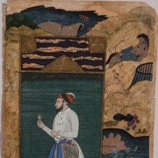Arte: PÁGINA ILUMINADA INDIA. SIGLO XVIII. FIRMADA. Lote 148151810
